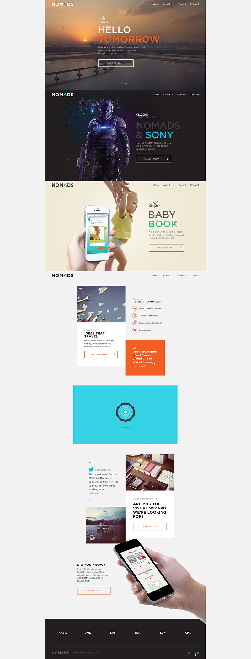 Nomads Agency design