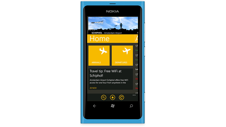 Schiphol App 2.0 Windows Phone
