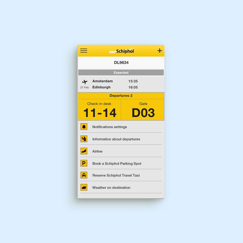 Schiphol Mobile Web